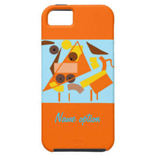 Cubism art dog on iphone cases iPhone 5 case