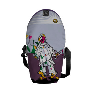 Cubism Clown Bag Messenger Messenger Bag