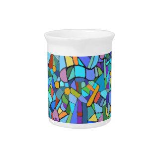 Cubist Abstract Art Design Pitcher