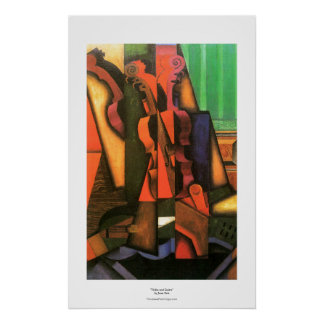 Cubist art Violin and Guitar painting by Juan Gris Poster
