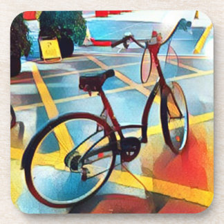 Cubist bicycle coaster