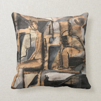 """Cubist Chair Yoga Polyester Throw Pillow 16"""" x 16"""""""