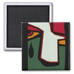 Cubist Cubism single teardrop tear weep Magnets
