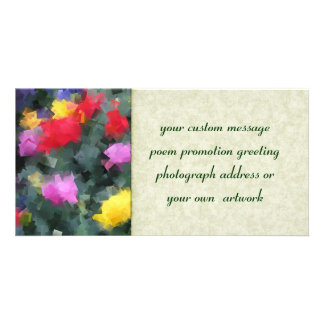 Cubist Flowers Picture Card