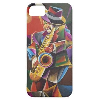 Cubist Jazz Sax Fine Art iPhone Case iPhone 5 Case