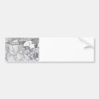 Cubist Mindblast Bumper Stickers