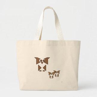 Cubist Owl Canvas Bag