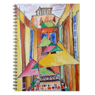 Cubist Style Watercolor Plaka | Athens, Greece Notebooks