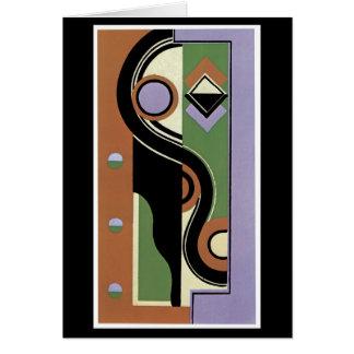 Cubistic Portrait Greeting Card