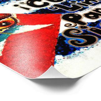 Cubita Linda Para Siempre Flag Artist V.Sisk Photographic Print