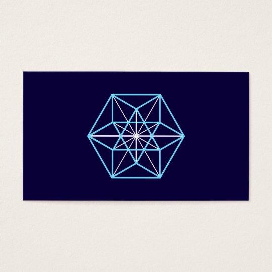 Cuboctahedron, Universe Structur, Sacred Geometry Business Card