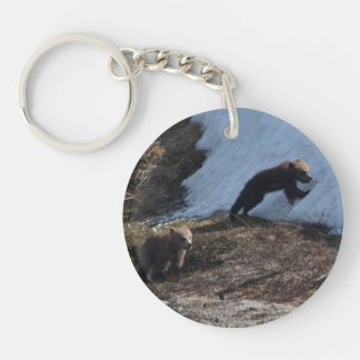 Cubs at Play Single-Sided Round Acrylic Key Ring