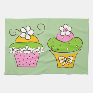 Cucake Illustrations Tea Towel