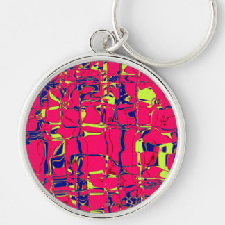 Cuckoo Abstract Silver-Colored Round Key Ring