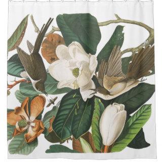 Cuckoo Bird Wildlife Audubon Flower Shower Curtain