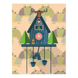 Cuckoo Clock with Turtle Wall paper Postcard
