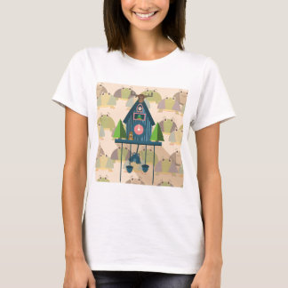 Cuckoo Clock with Turtle Wall paper T-Shirt