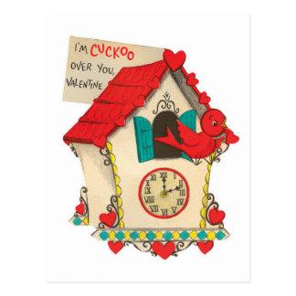 Cuckoo Over You | Vintage Valentine | Postcard