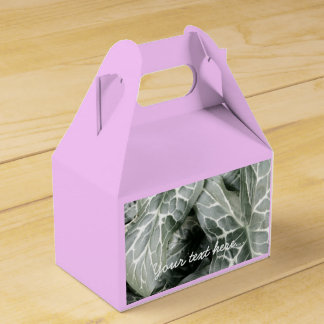 Cuckoo Pint Leaves In Black And White Wedding Favour Boxes