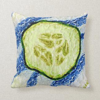Cucumber by Alexandra Cook Throw Cushions