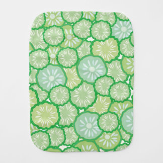 Cucumber funny pattern burp cloths