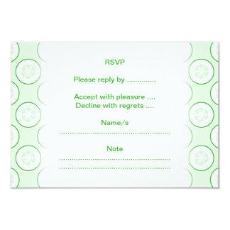 Cucumber Polka Dot Pattern. 3.5x5 Paper Invitation Card
