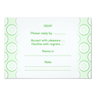 Cucumber Polka Dot Pattern. 9 Cm X 13 Cm Invitation Card