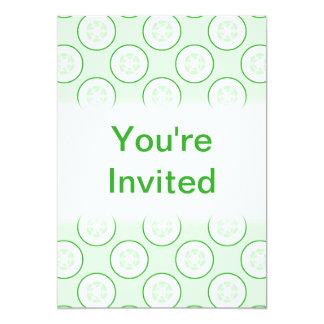 Cucumber Polka Dot Pattern. 5x7 Paper Invitation Card