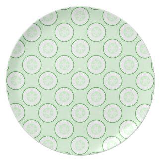 Cucumber Polka Dot Pattern. Plate