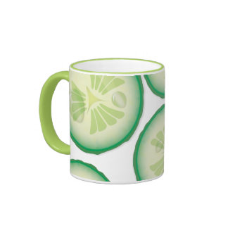 Cucumber Slice Ringer Mug