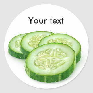 Cucumber slices classic round sticker