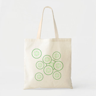 Cucumber slices tote bags