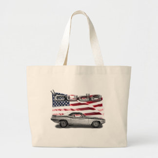 Cuda Muscle Car Jumbo Tote Bag