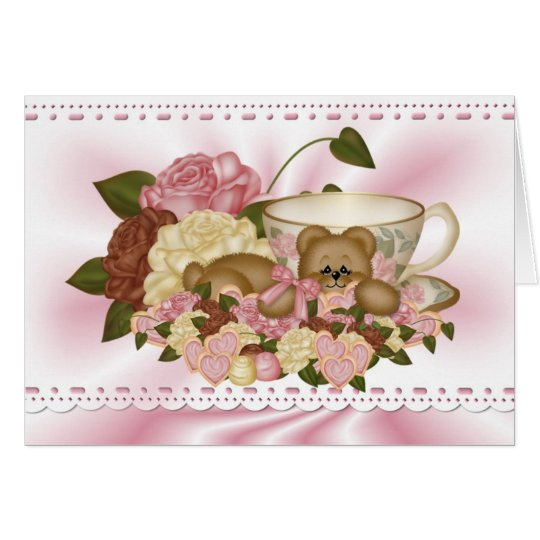 Cuddle Creek® Tea Time Teddy Greeting Card