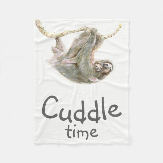 """Cuddle time"" Sloth mum and baby easy to"