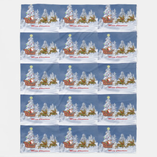 Cuddle up-with Santa Fleece Blanket