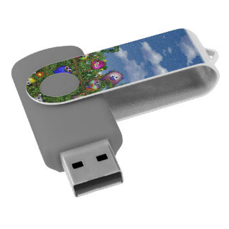 Cuddles by the fence swivel USB 2.0 flash drive