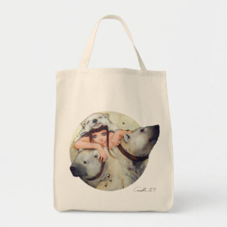 Cuddles of a Power Monger Grocery Tote Tote Bags