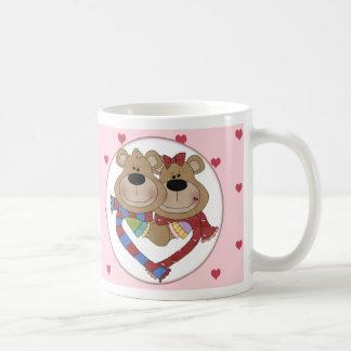 Cuddling Bears Pink Valentine Mug