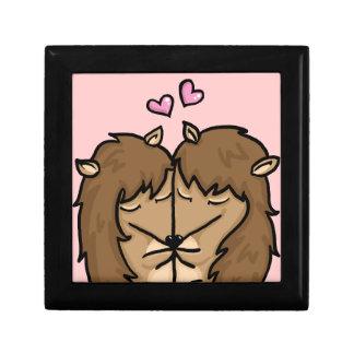 Cuddling Hedgehogs in love Gift Box