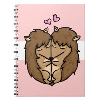 Cuddling Hedgehogs in love Notebook