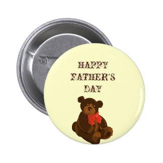 Cuddly Bear Dad 6 Cm Round Badge