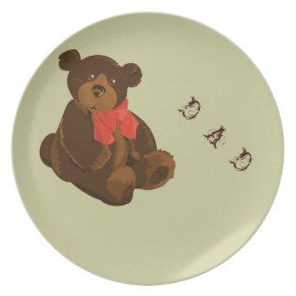 Cuddly Bear Dad Plate