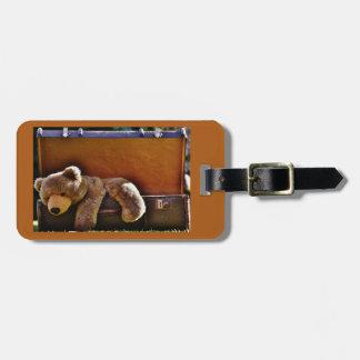 Cuddly Bear Luggage Tag
