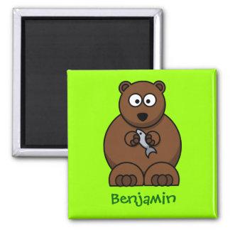 Cuddly bear refrigerator magnets