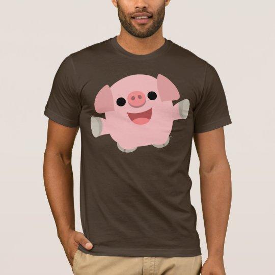 Cuddly Cartoon Pig T-shirt