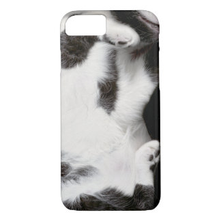 Cuddly Cat Wrapper for iPhone 7 Case (blk&wht)