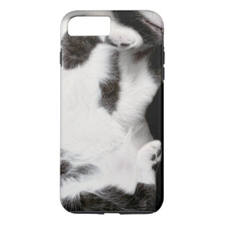 Cuddly Cat Wrapper for iPhone 7Plus Case (blk&wht)
