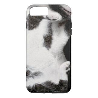 Cuddly Cat Wrapper for iPhone 7Plus Case (blk&wht)