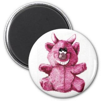 Cuddly Devil 6 Cm Round Magnet